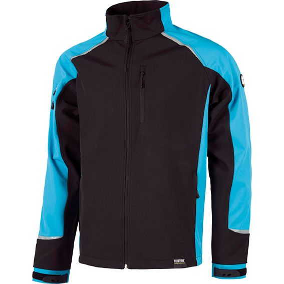 CHAQUETA WORKSHELL S9498 NGR/AZUL T-L